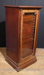 Antique Victorian Walnut Probe Schrank Brust Interiors Salvage