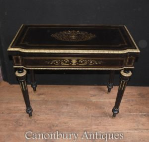 antike franz sisch reich ebony card spiele tisch boulle inlay antike b cherregale english. Black Bedroom Furniture Sets. Home Design Ideas
