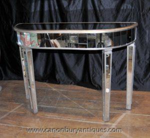 Art Deco Gespiegelte Konsole Tisch Spiegel Möbel