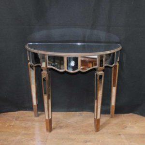 Gespiegelte Konsolentisch Art Deco Demi Lune Tische