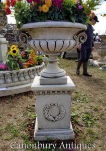 Große Chesterblade-Garten-Urne auf Sockel-klassischem Campana