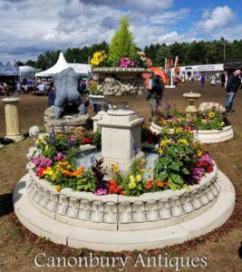 Ragley-Garten-Wasser-Brunnen mit Urne auf Sockel