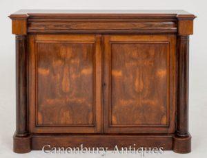 antikes sideboard aus william iv in palisander antike. Black Bedroom Furniture Sets. Home Design Ideas