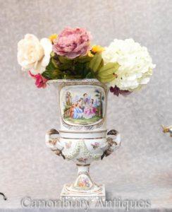 Einzelner Meissener Porzellan-klassischer Campana-Urne-Vase-Pflanzer