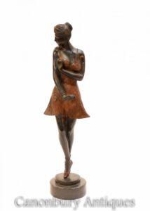 Art Deco Bronze Ballerina Statue - Balletttänzer