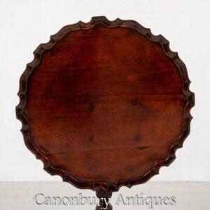 Chippendale Weintisch - Antike Mahagoni Beistelltische