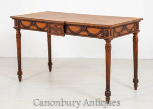 Hepplewhite Konsolentisch - Carved Oak Inlay Antique
