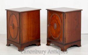 Paar viktorianische Seitenschränke - Mahagoni Nachttische 1880
